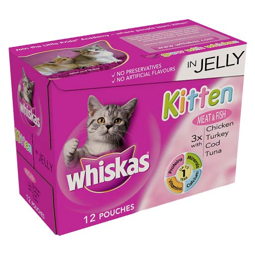 Whiskas Pouch in Jelly Kitten Meat & Fish 12 x 100g