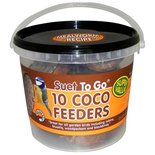 Suet To Go Coconut Feeders 10 pack