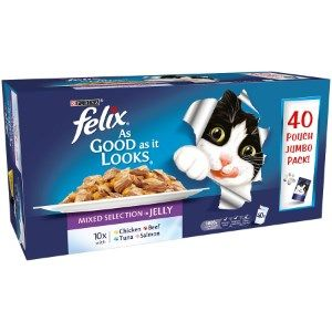 Felix As Good As it Looks Mixed Selection in Jelly Multipack 40x100g