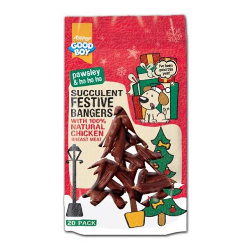 Good Boy Pawsley Succulent Festive Bangers 20 Pack