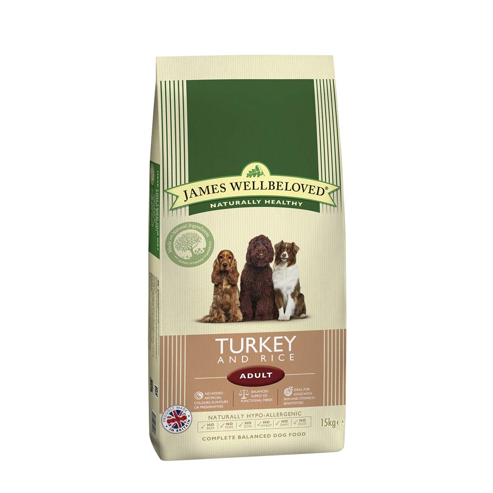 James Wellbeloved Dog Adult Turkey & Rice 15kg